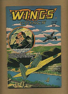Wings Comics 70 (FN-) Fiction House 1946 Golden Age (id# 11847)