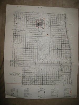 Antique '61 Sanilac County Minden City Michigan Map Hunting Fishing Road Highway