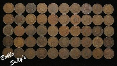 Roll of Assorted Date Circulated Indian Head Cents <> SEE DESCRIPTION FOR DATES