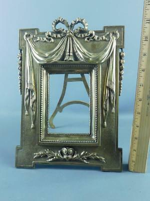 Antique French Bronze Neo-Classical  Ornate Easel Back Picture Frame