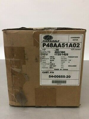 Carrier Transicold P48AA51A02 Motor Condenser 54-00655-20 .36HP 460/380V