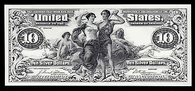 Proof Print or Intaglio Impression by BEP - Face 1897 $10 Educational Note