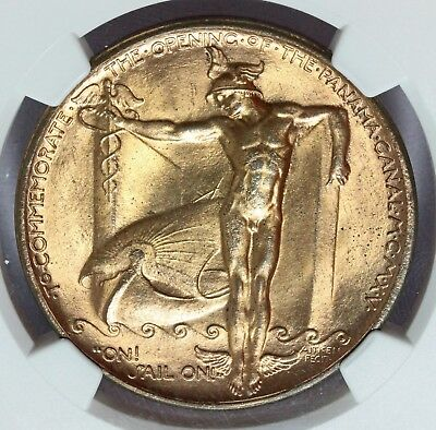 1915 Panama Pacific Expo Official Medal So-Called Dollar - HK-400 - NGC MS 65