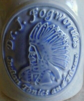 dR. J FOGWORTH'S INDIAN TONICS & ELIXER CERAMIC REPRO JUG ROOT BEER CO neocurio