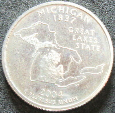2004-S Proof Michigan Silver State Quarter Coin