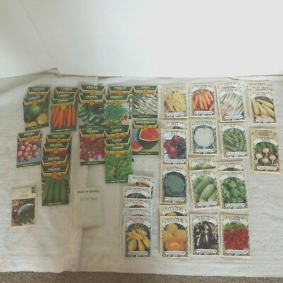 Vintage Vegetable Seed Packs Packets lot of 49 unopened expired EXCEL AMERICAN