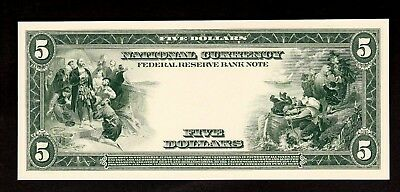 Proof Print or Intaglio by BEP - Back of 1914 $5 Federal Reserve Bank Note