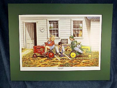 Terry Downs Ltd Ed Print - Tie Breaker - John Deere - Farmall - Matted - Signed