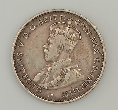 1911 Great Britain Silver 1 Florin/2 Shillings King George V *2955