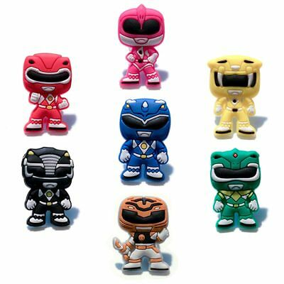 20pcs Lot Power Rangers PVC Shoes Charms fit for Croc & Jibbitz Wristbands Gifts