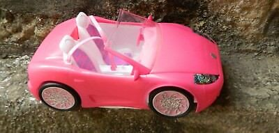 VINTAGE BARBIE GLAM Hot Pink  Mattel 2010 CONVERTIBLE Coupe Sports Toy Car