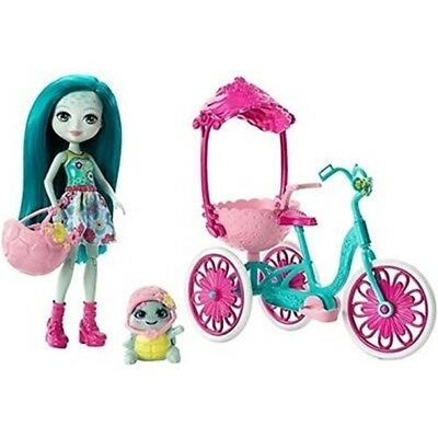 Enchantimals Built For Two Doll Playset, Turtle & Tricycle - Set Fcc65 Playset