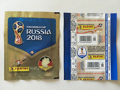 Pochette Panini Wc Coupe Monde 2018 Russia Packet Bustina Vertical Allemand