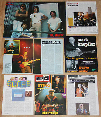 DIRE STRAITS Mark Knopfler 1970s/00s spain clippings photos magazine articles