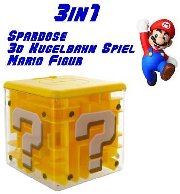 Nintendo Super Mario Bros. Question Block Spardose Labyrinth Fragezeichen Würfel