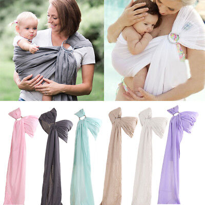 New Infant Baby Outdoor Ring Sling Straps Carrier Newborn Slings Wrap 0-12M LA