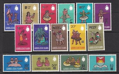 Gilbert And Ellice Islands 1966 Qeii Decimal Definitive Set Lightly Hinged Mint