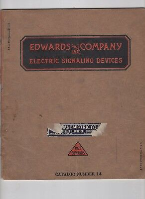 1920s Edwards and Company Catalog Electric Signaling Devices