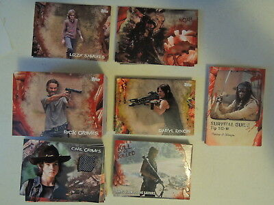 Walking Dead Survival Box Lot 67 Diff Base Sp's Relics Serial #ed All Shown Nice