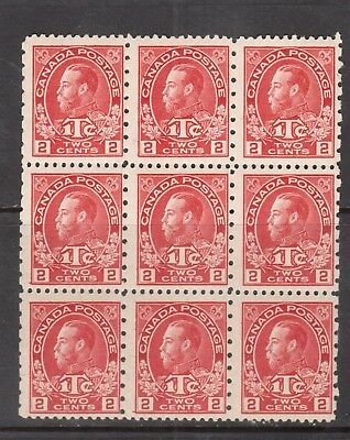 Canada #MR5 Mint Fine Block Of Nine - Seven Never Hinged Stamps - Two Hinged