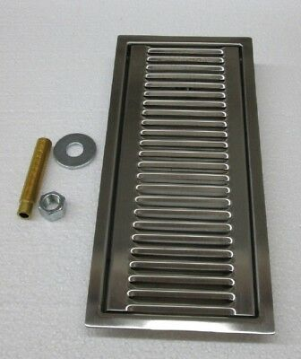 "DRIP TRAY STAINLESS STEEL *RECESSED* 13"" Long  X 6"" Wide X 1"" Deep"