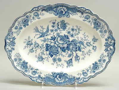 "Crown Ducal BRISTOL BLUE 12 1/4"" Oval Serving Platter 91507"
