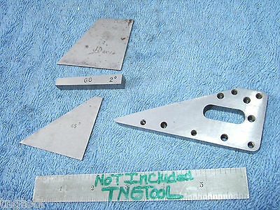 Angle Blocks (4) Vintage Toolmaker Machinist Inspection Grinding Mill Lay-Out Qa
