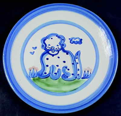 M A Hadley COUNTRY SCENE BLUE Dog Dinner Plate 5757455