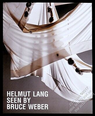 2005 Helmut Lang fashion clothes Bruce Weber photo vintage print ad