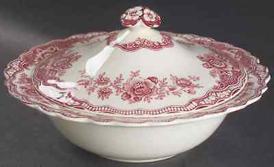 Crown Ducal BRISTOL PINK Round Covered Vegetable Bowl 91712