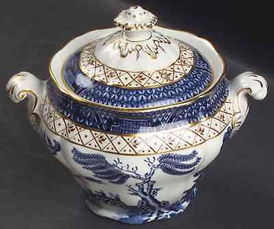 Booths REAL OLD WILLOW BLUE Sugar Bowl 5936904
