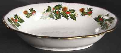 Rosina Queens YULETIDE (SCALLOPED) Cotswold Oval Vegetable Bowl 5947966