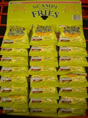Smiths Scampi Flavour Fries 24 Packs On Pub Card Savoury Snacks Free P&P