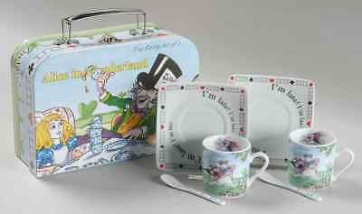 Cardew ALICE IN WONDERLAND'S CAFE Set Of 2 Demi Cup & Saucer With Spoon 9431526