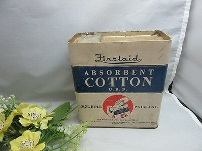 Vtg Firstaid Absorbent Cotton U.S.P. Reel-Roll Package.Rexall Drug store