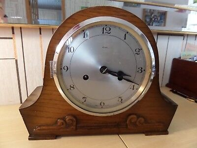 Very Nice Running Smiths Enfield Mantle Clock With Chimes On Hour And Half Hour