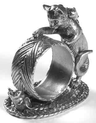 Reed & Barton 1824 COLLECTION SILVERPLATE Cat & Mouse Napkin Ring 7023285
