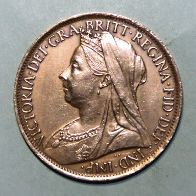 Great Britain 1 Penny 1901 Extremely Fine Coin - Queen Victoria