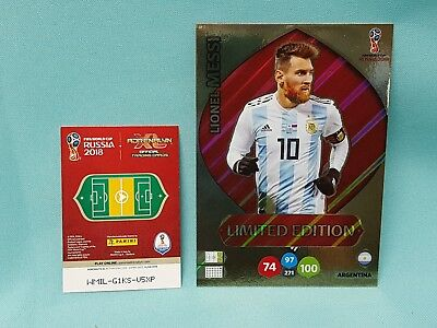 Panini Adrenalyn World Cup Russia 2018 WM XXL Messi - Limited Edition