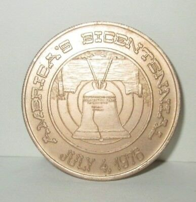City Of Philadelphia Metal Bicentennial Novelty Coin Mayor Frank L Rizzo 1976