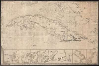 1854 Imray Blueback Chart or Map of Cuba