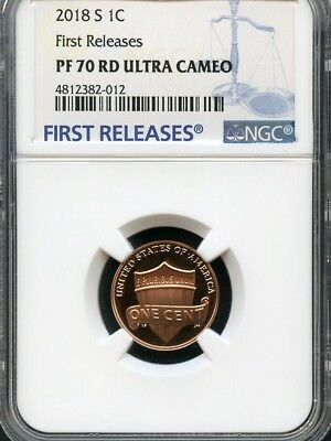 2018 S Lincoln Penny FIRST RELEASES NGC PF70 Ultra Cameo- (BLUE)