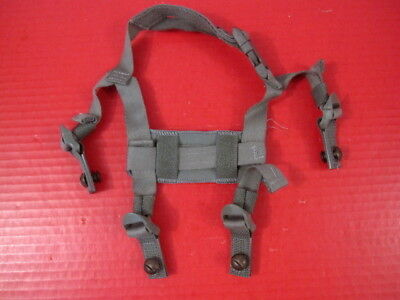 US Army Issued 4-Point Chin Strap Set w/Bolts for ACH & MICH Helmet - Foliage
