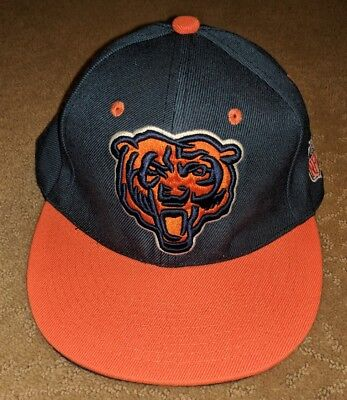 e94caedc3f4 Mitchell   Ness Chicago Bears Throwback XL Logo Field Snapback Hat Cap NFL  RARE