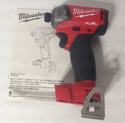Milwaukee 2760-20 New 18V M18 FUEL SURGE 1/4 in. Hex Hydraulic Impact Driver