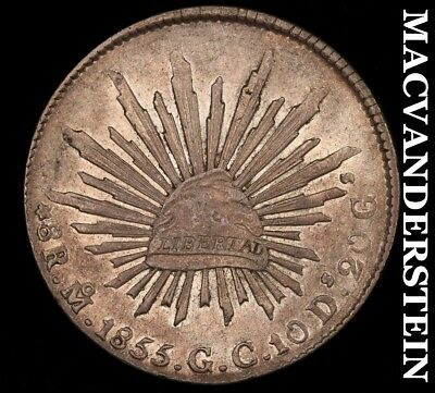 MEXICO (FIRST REPUBLIC): 1855-MoGC EIGHT REALE- ALMOST UNCIRCULATED+ !!  #H5043