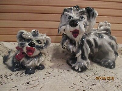 Vintage Spaghetti Dog Figures Italy Set of 2 Yorkie, Terrier
