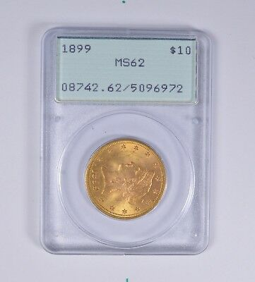 MS62 1899 $10.00 Liberty Head Gold Eagle - PCGS Rattler Upgrade? *6423