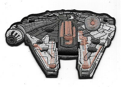 Star Wars Millennium Falcon Die-Cut Embroidered Patch Large Version NEW UNUSED