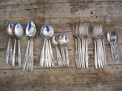 Vintage Silver Plate super plate Sheffield cutlery set 40 piece setting 6